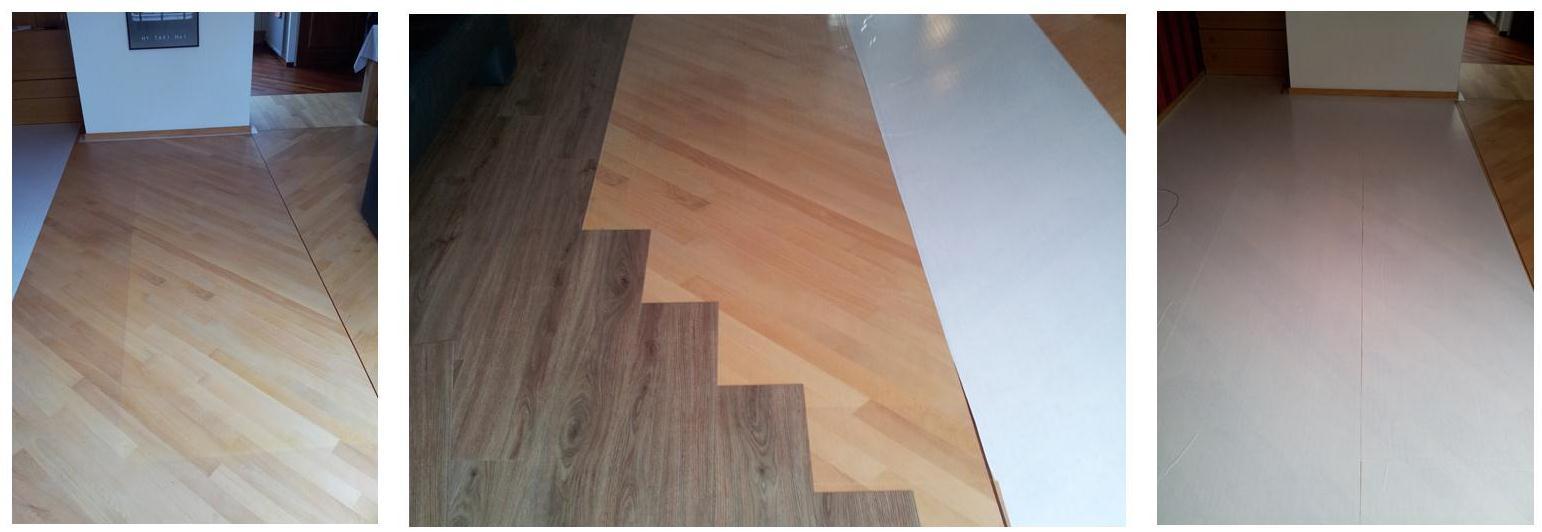 Het installeren pvc vloeren