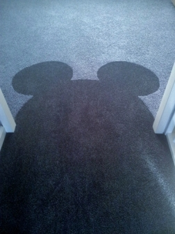 Mickey Mouse in tapijt